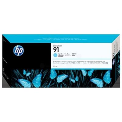 Picture of HP 91 Light Cyan Ink Cartridges for Designjet Z6100
