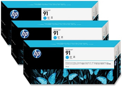 Picture of HP 91 Photo Black Ink Cartridges for Designjet Z6100, 3 Pk
