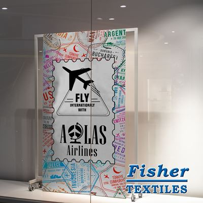 Picture of Fisher Textiles 8864 Triple White (FR) - 61in x 100ft