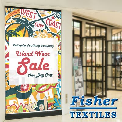 Picture of Fisher Textiles 8862 Single White Backlit (FR) - 61in x 100ft