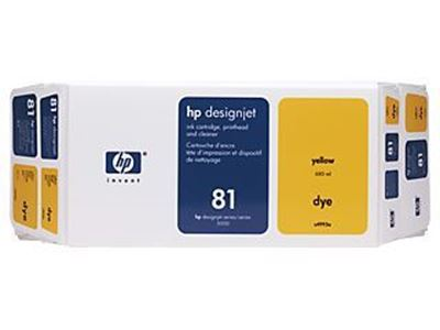 Picture of HP 81 Yellow Dye Ink Value Pack for  Designjet 5000/5500