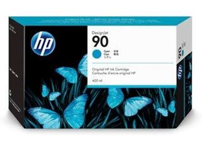 Picture of HP 90 Cyan Ink Cartridge for Designjet 4000 Series - 400 mL