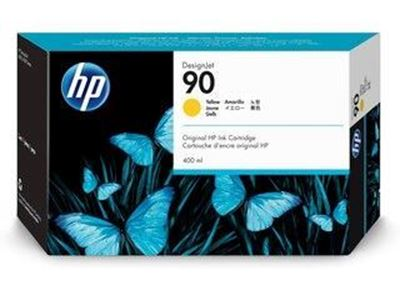 Picture of HP 90 Yellow Ink Cartridge for Designjet 4000 Series - 400 mL