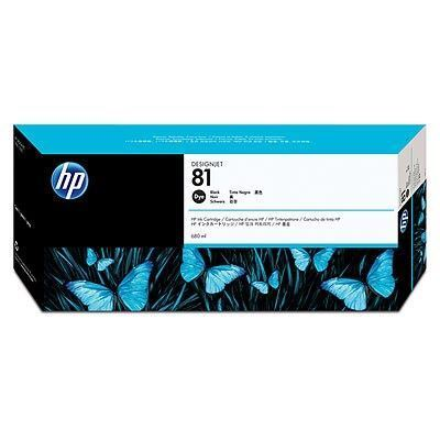Picture of HP 81 Black Dye Ink Cartridge for Designjet 5000/5500