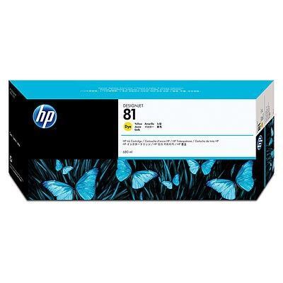 Picture of HP 81 Yellow Dye Ink Cartridge for Designjet 5000/5500