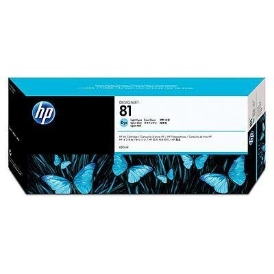 Picture of HP 81 Light Cyan Dye Ink Cartridge for Designjet 5000/5500