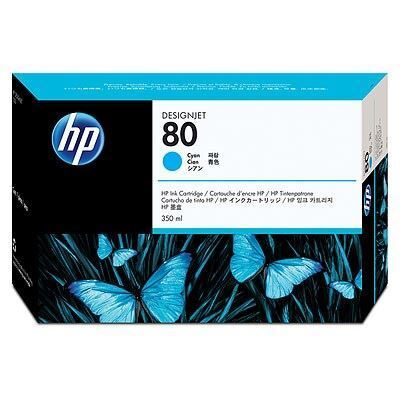 Picture of HP 80 Cyan Ink Cartridge for Designjet 1000 Series - 350 mL