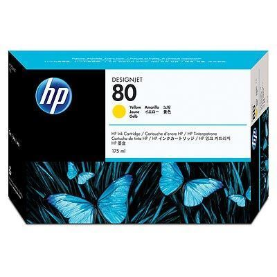 Picture of HP 80 Yellow Ink Cartridge for Designjet 1000 Series - 175 mL