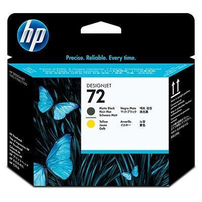 Picture of HP 72 Ink Print Head Matte Black and Yellow