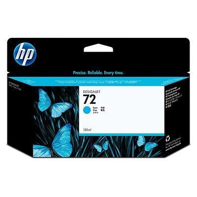 Picture of HP 72 Ink Cartridges Cyan (130 mL)