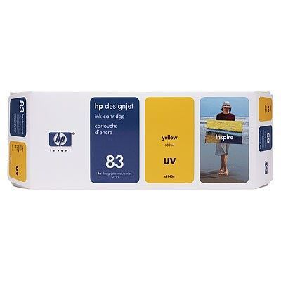 Picture of HP 83 Yellow UV Ink Cartridge for  Designjet 5000/5500