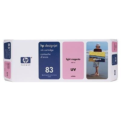 Picture of HP 83 Light Magenta UV Ink Cartridge for  Designjet 5000/5500