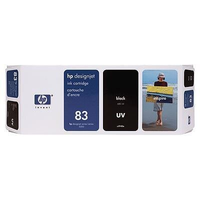 Picture of HP 83 Black UV Ink Cartridge for Designjet 5000/5500