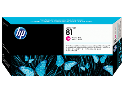 Picture of HP 81 Magenta Dye Printhead & Cleaner for Designjet 5000/5500