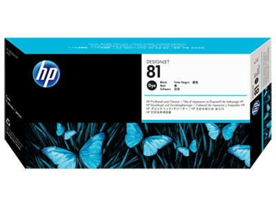 Picture of HP 81 Black Dye Printhead & Cleaner for Designjet 5000/5500
