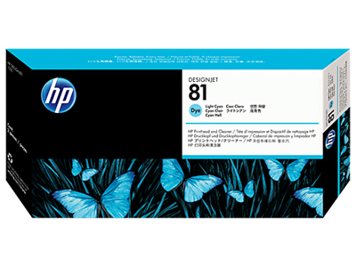 Picture of HP 81 Light Cyan Dye Printhead & Cleaner for Designjet 5000/5500