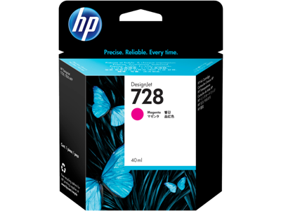Picture of HP 728 40ml Magenta Ink Cartridge for T730/T830 Series Printers