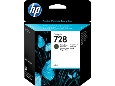 Picture of HP 728 69ml Matte Black Ink Cartridge for T730/T830 Series Printers
