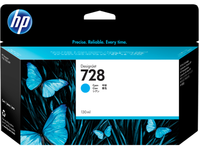 Picture of HP 728 130ml Cyan Ink Cartridge for T730/T830 Series Printers