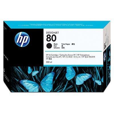 Picture of HP 80 Black Ink Cartridge for Designjet 1000 Series - 350 mL