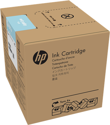 Picture of HP 871A Latex 370/570 3-Liter Ink- Cyan