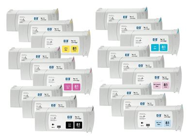 Picture of HP 81 Dye Ink Value Pack for  Designjet 5000/5500