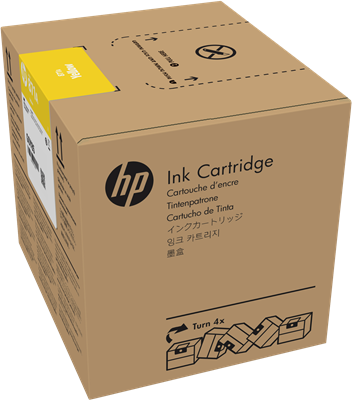 Picture of HP 871A Latex 370/570 3-Liter Ink- Yellow