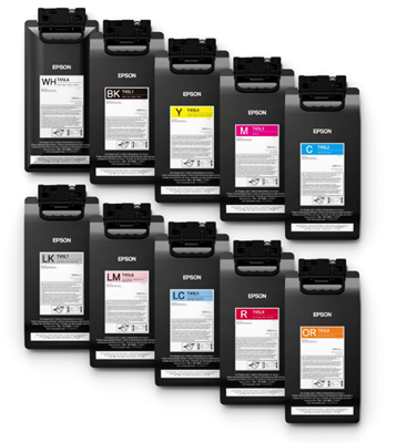 Picture of EPSON UltraChrome GS3 Ink for SureColor S60600L and S80600L, Metallic Silver (500 L)