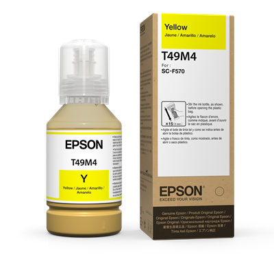 Picture of EPSON SureColor F570 Ink Bottles , Yellow 140 ml)