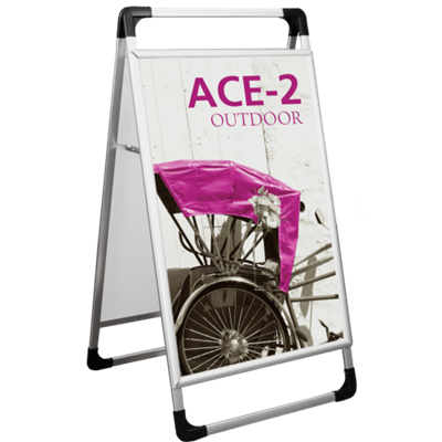 Picture of LexJet ACE-2 Double-Sided  A-Frame  (Silver Aluminum)