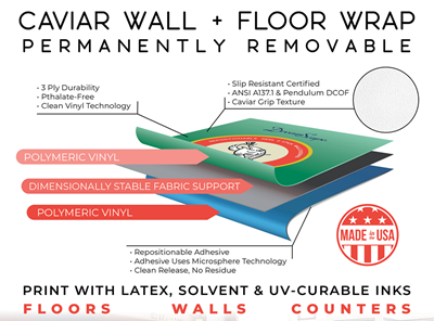 Picture of DreamScape™ Caviar Wall + Floor Wrap - 54in x 150ft