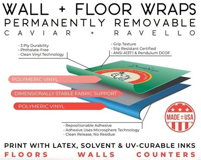 Picture of DreamScape™ Ravello Wall + Floor Wrap - 54in x 150ft