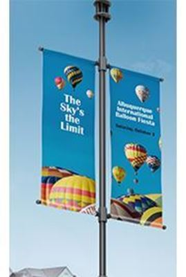 Picture of HP 18-oz Prime Double-sided Pole Banner