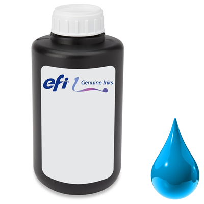 Picture of EFI PROGRAPHICS UV RIGID Ink for Pro 30f and Pro 24f - Cyan 1L