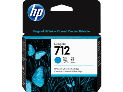 Picture of HP 712 29ml Cyan Ink Cartridge