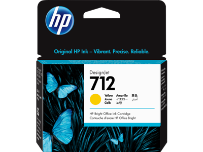 Picture of HP 712 29ml Yellow Ink Cartridge