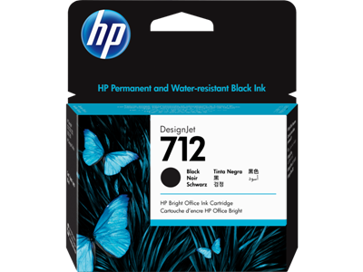 Picture of HP 712 80ml Black Ink Cartridge