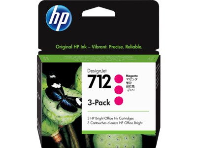 Picture of HP 712 29ml Magenta Ink Cartridge - 3 Pack